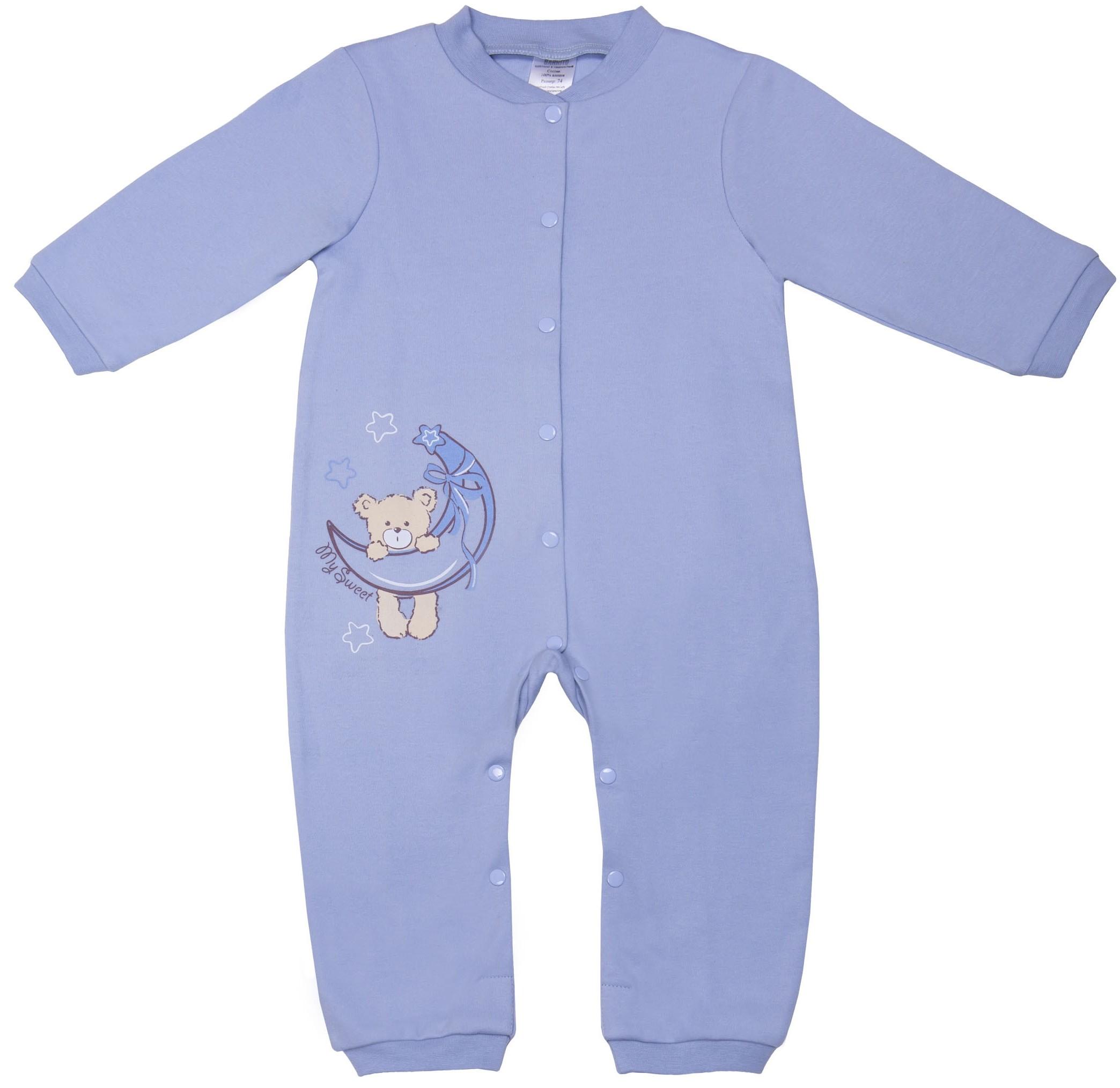 Комбинезон для мальчика Barkito С открытой стопой Сладкие сны голубой peter pilotto топ без рукавов