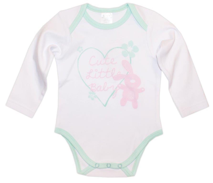 Первые вещи новорожденного Barkito Весенняя длинный рукав белый бирюзовый 2 шт.