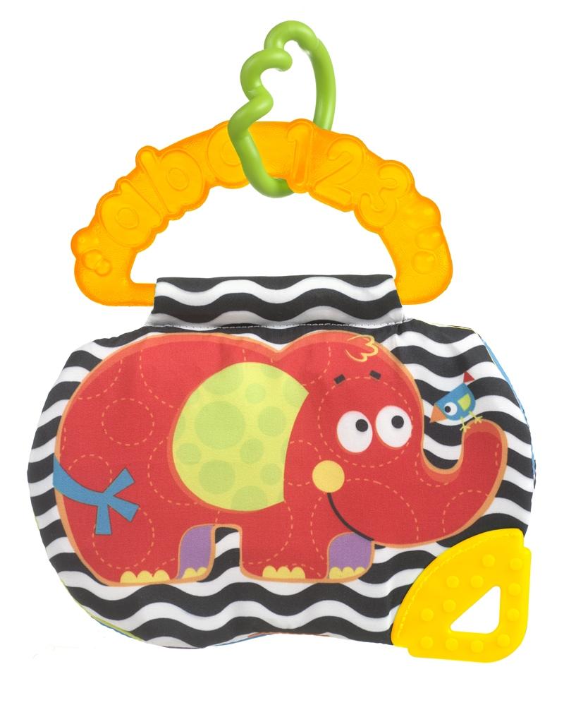 Погремушки Playgro Книжка-прорезыватель Playgro «Слоник» книжка игрушка playgro playgro книжка игрушка книжка прорезыватель ослик