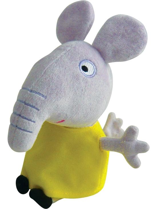 Купить Peppa Pig, Слоник Эмили 20 см, Китай, серый, желтый