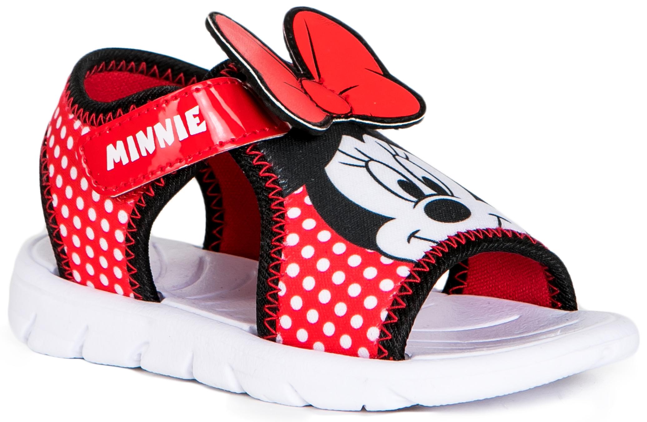 Босоножки Barkito Сандалеты для девочки MINNIE MOUSE, красный утюг simba minnie mouse с водой 4735135
