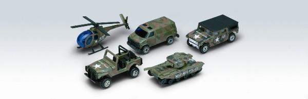Фото Welly Игровой набор Welly «Военно-полицейская команда» из 5 машинок
