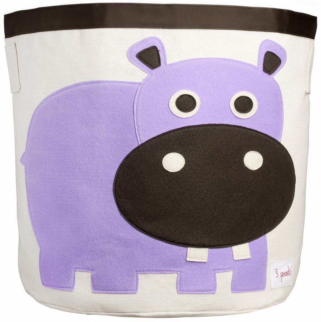 Корзина для хранения 3 Sprouts Purple Hippo