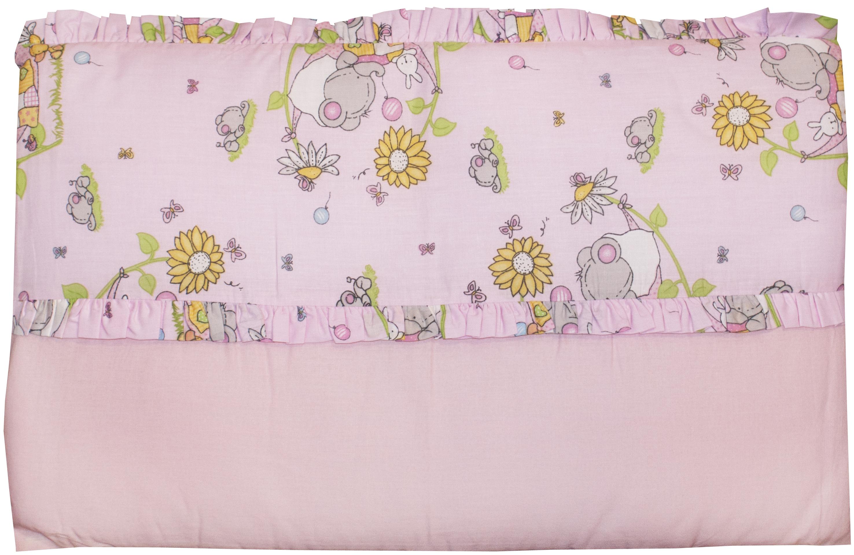 Комплект в кроватку Barkito Happy-happy розовый
