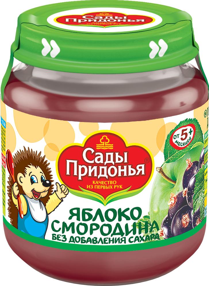 купить Пюре Сады придонья Сады Придонья Яблоко и смородина с 5 мес. 120 г по цене 33.9 рублей