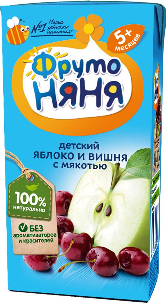 Нектар Прогресс ФрутоНяня Яблоко и вишня с мякотью с 5 мес. 200 мл нектар фрутоняня из бананов с мякотью в тетра паке 200 мл