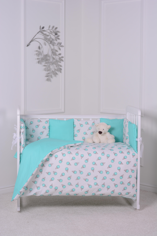 цена Комплект в кроватку Луняшки Сладкая ночка 6 предметов, зеленый онлайн в 2017 году