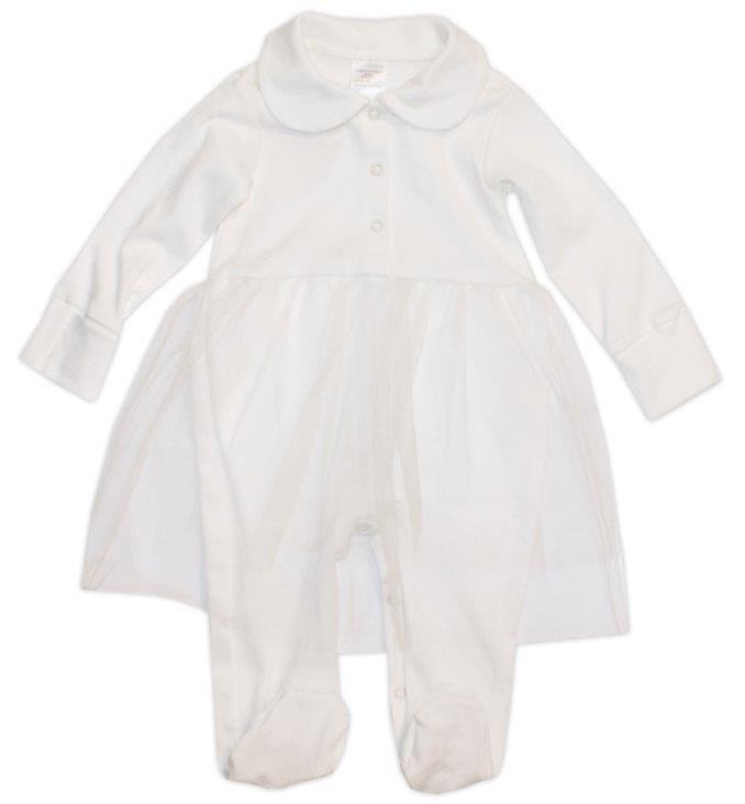 Первые вещи новорожденного Newborn Праздничный комбинезон для девочки Newborn, белый праздничный атрибут