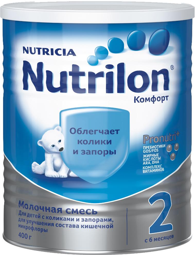 Молочная смесь Nutricia Nutrilon (Nutricia) 2 Комфорт (c 6 месяцев) 400 г молочная смесь nutricia nutrilon nutricia 2 premium c 6 месяцев 800 г