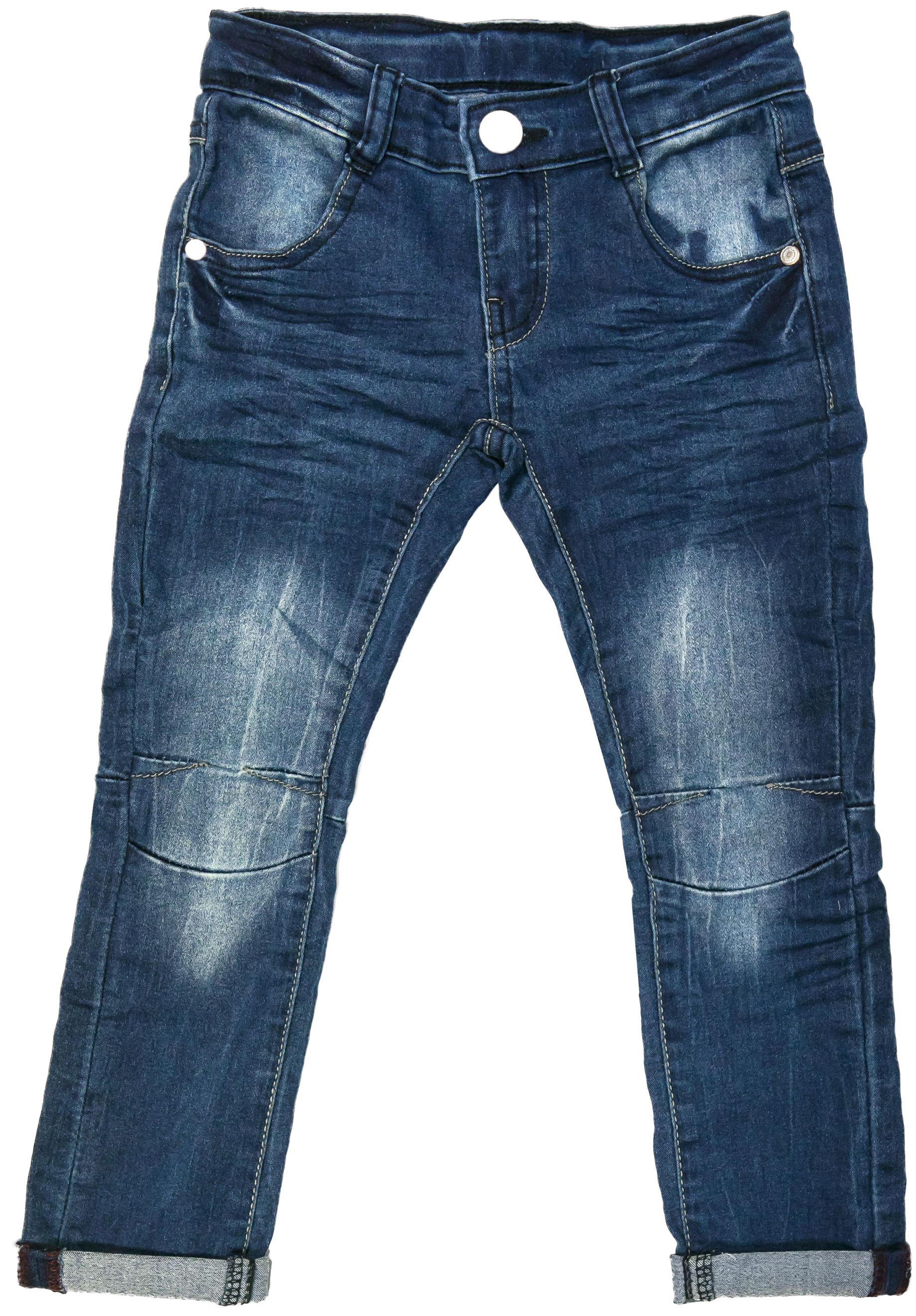 Брюки для мальчика Barkito Джинсы Деним синие полукомбинезон джинсовый для мальчика barkito деним