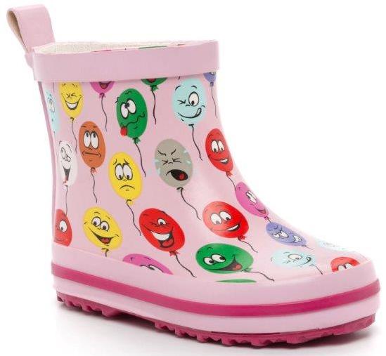 Резиновые сапоги Kiddico Сапоги резиновые для девочки Kiddico, розовые резиновые сапоги barbie