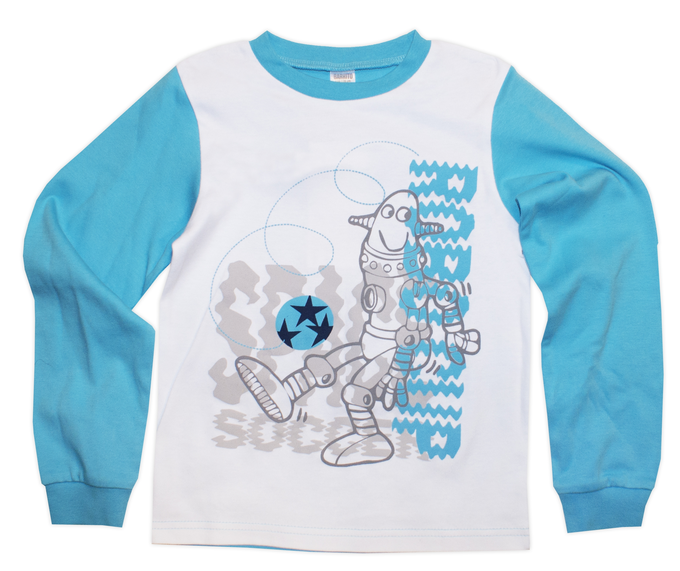 Пижамы Barkito Пижама для мальчика с длинным рукавом Робот Barkito пижама с шортами с рисунком