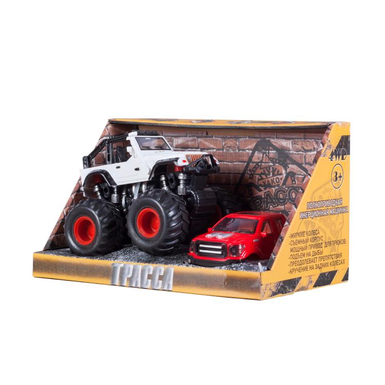 Инерционная игрушка Handers Большие колёса х2: вездеход