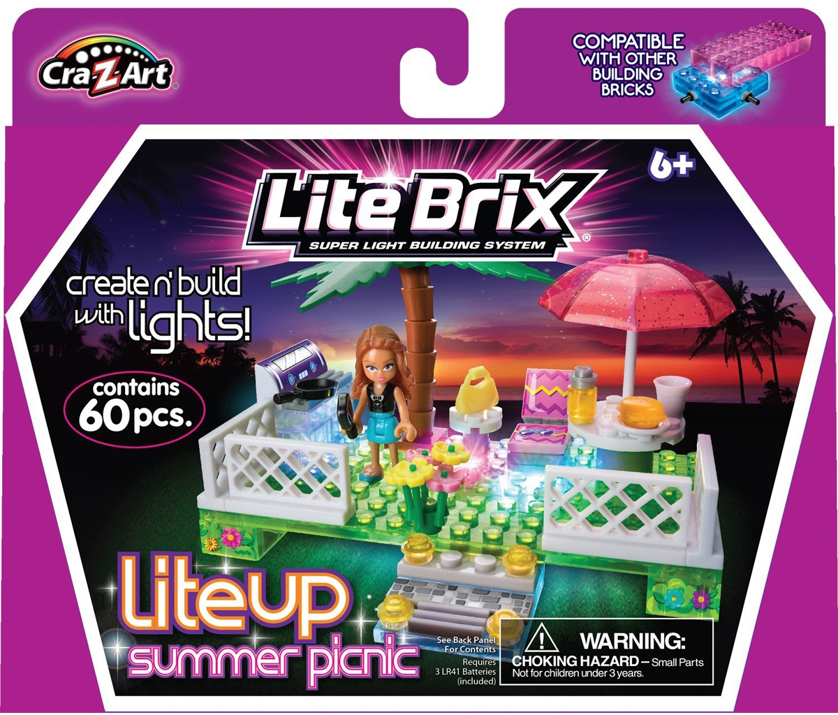 Конструкторы для малышей Lite Brix Lite Brix Пикник/Игровая площадка lite brix самолет 35814