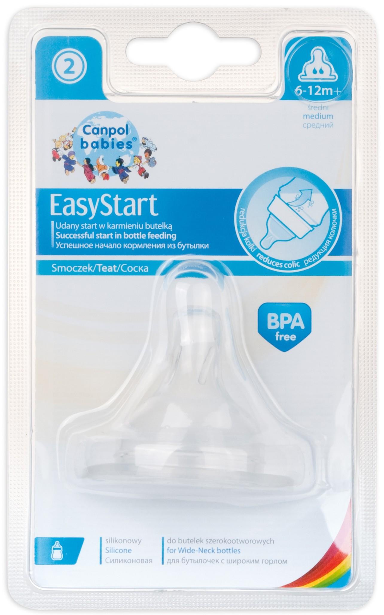 Соска Canpol babies EasyStart ортодонтическая силиконовая 6 мес.+