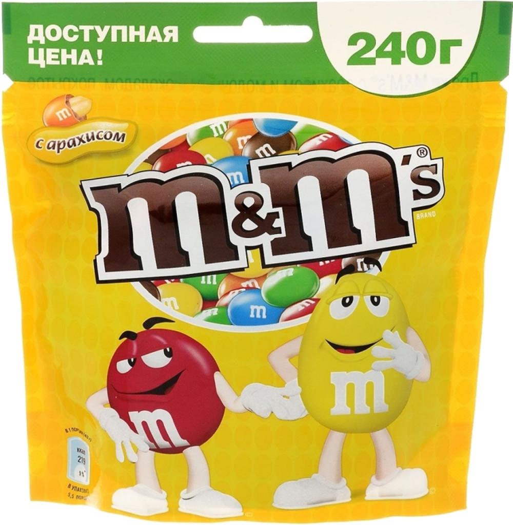 Драже M&M's M&M's с арахисом 240 г драже m