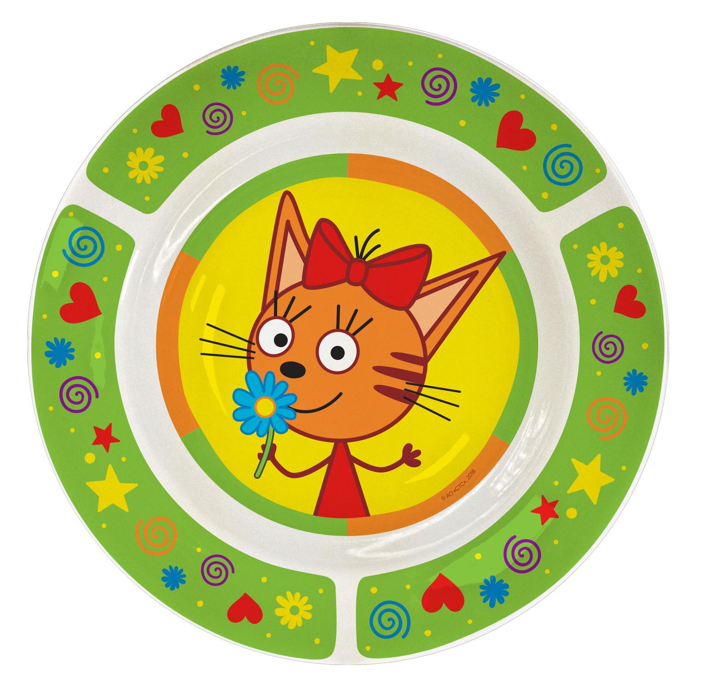 Набор посуды Приор Групп Три кота Зеленый