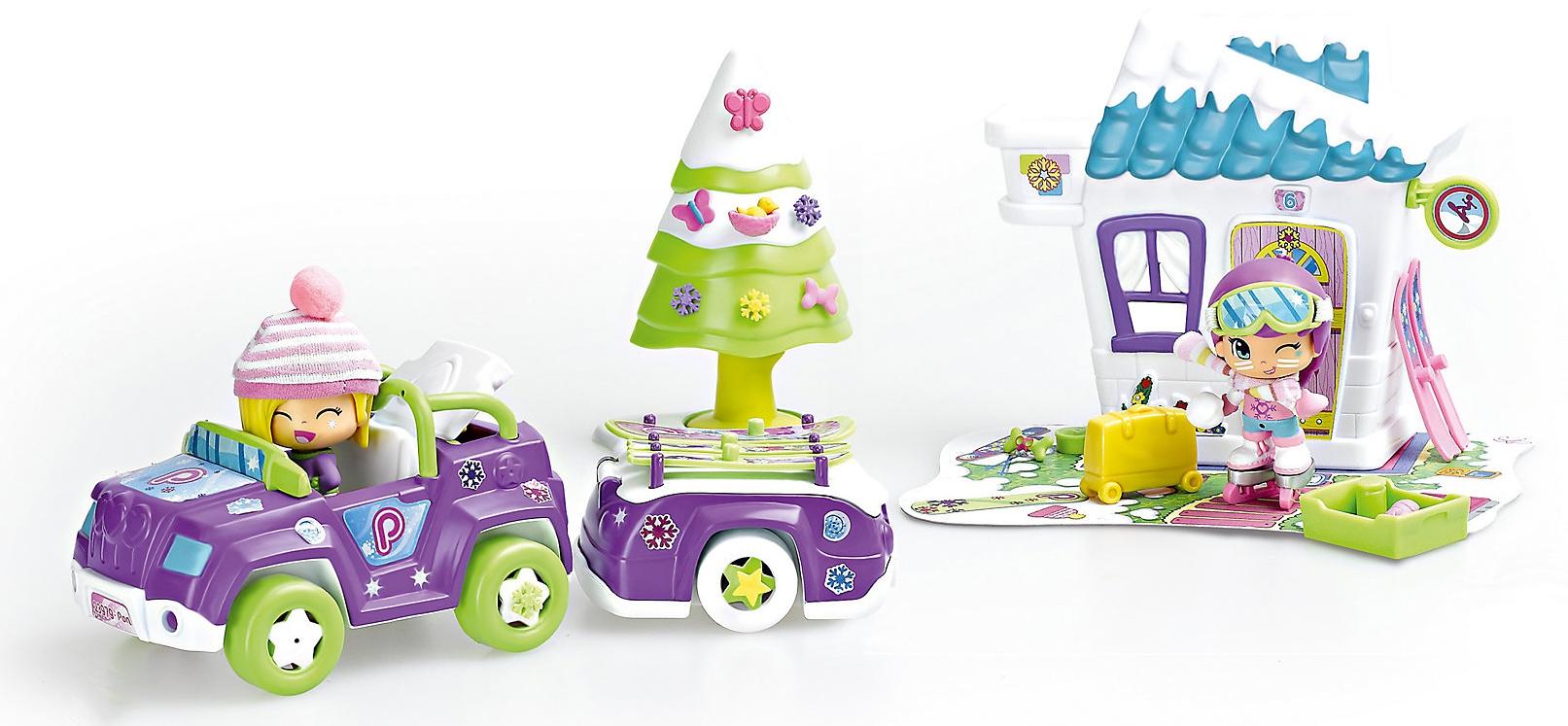 Игровой набор Famosa Пинипон - Зимний домик с машинкой игровой набор dave toy аэропорт с 1 машинкой