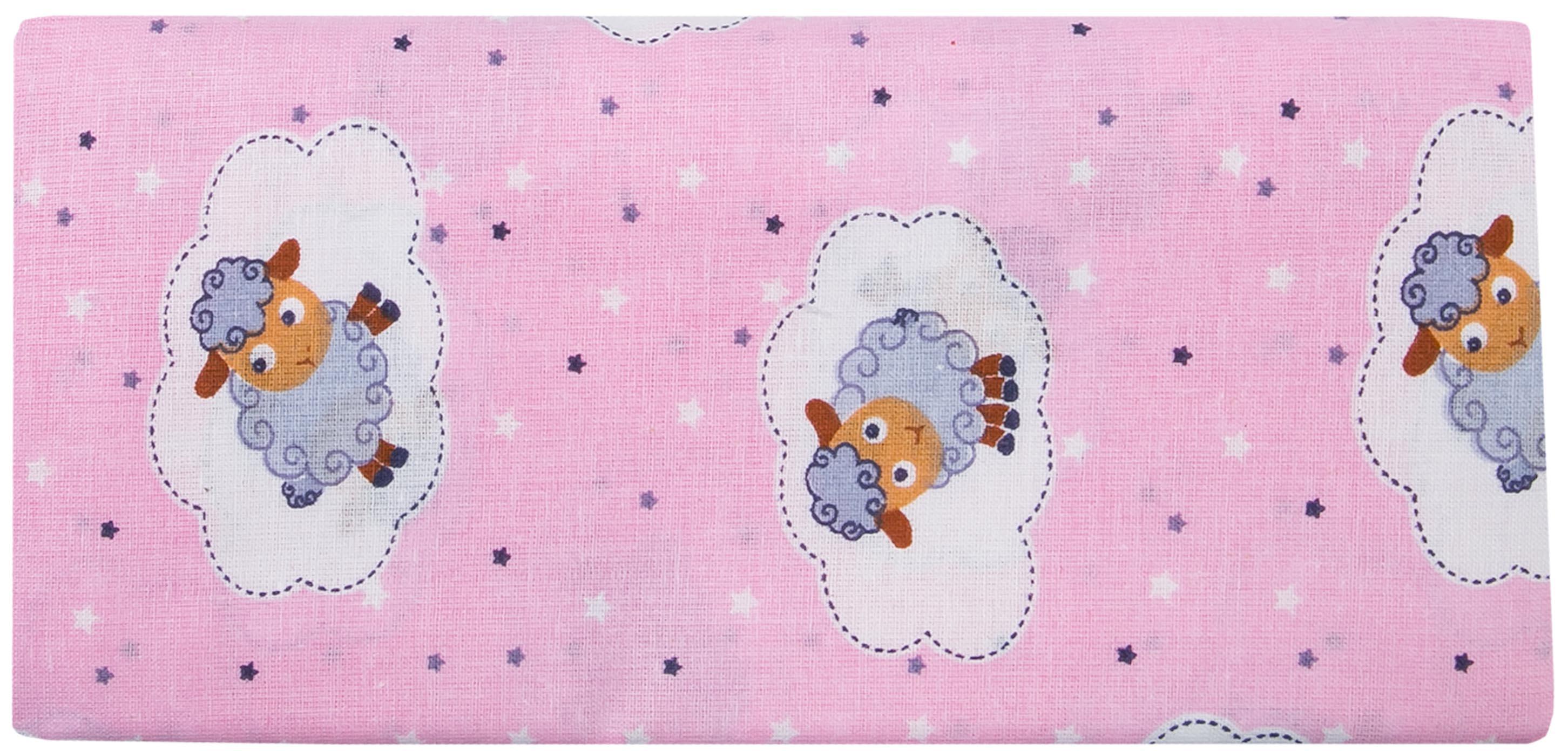 Купить Первые вещи новорожденного, Комплект пеленок Barkito ситец, 2шт, розовая с рисунком Барашки, белая с рисунком Совушки, 90x120 см, Россия, розовый с рисунком барашки , белый с рисунком совушки , Женский