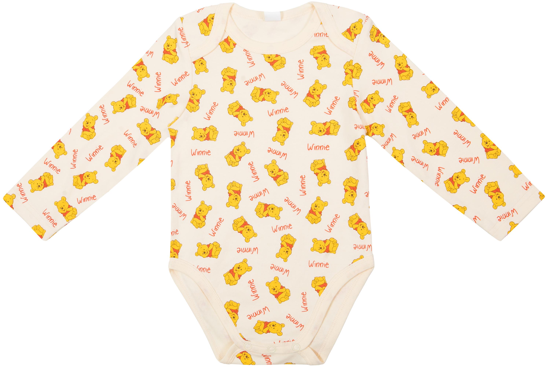 Купить Первые вещи новорожденного, Боди с длинным рукавом детское Winnie The Pooh, белое с рисунком, Barkito, Китай, белый, Новорожденный