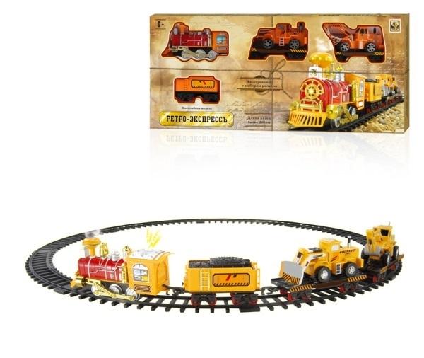 Железные дороги и паровозики 1toy Ретро экспресс 12 дет. Т10143 железные дороги shantou gepai железная дорога восточный экспресс