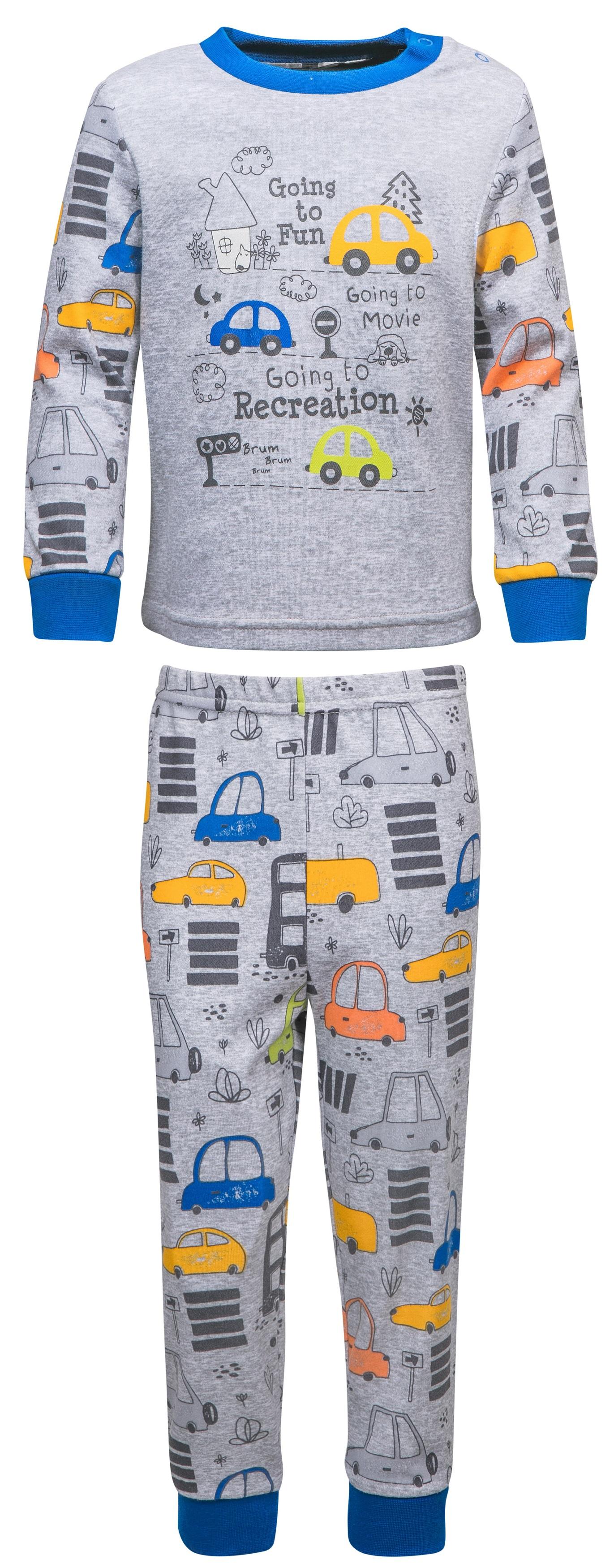 """Пижамы Barkito Пижама для мальчика Barkito """"Сновидения"""", серая с рисунком пижамы и ночные сорочки lalababy пижама для мальчика длинный рукав кофточка и штанишки little men"""