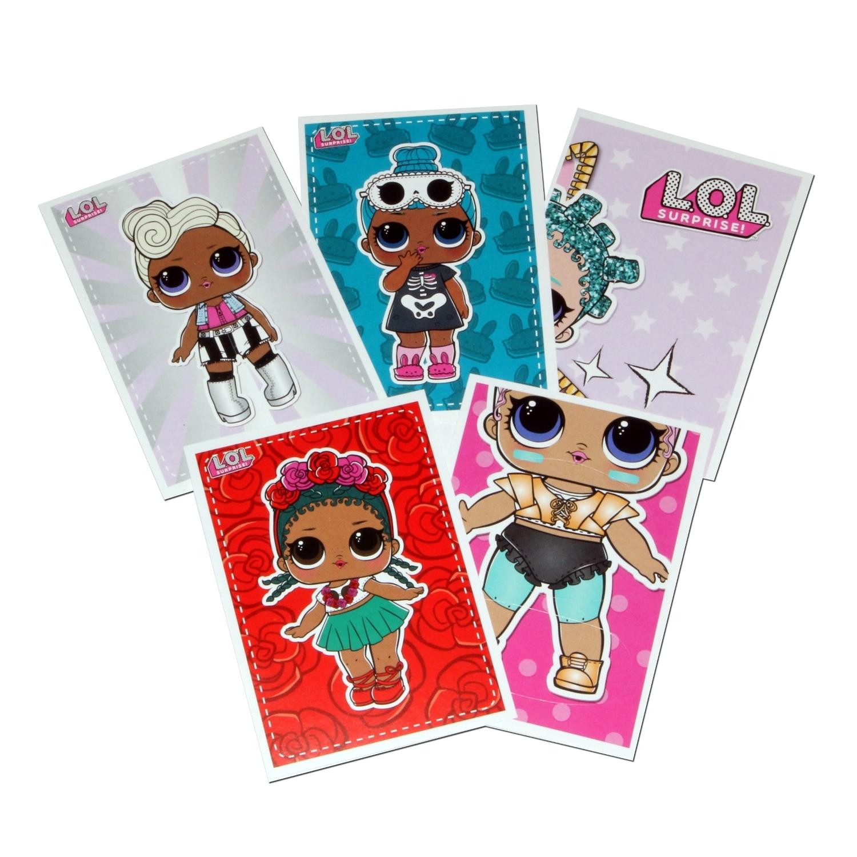 Наклейки MGA Entertainment L.O.L. 5 шт. другие куклы mga entertainment жемчужина lol