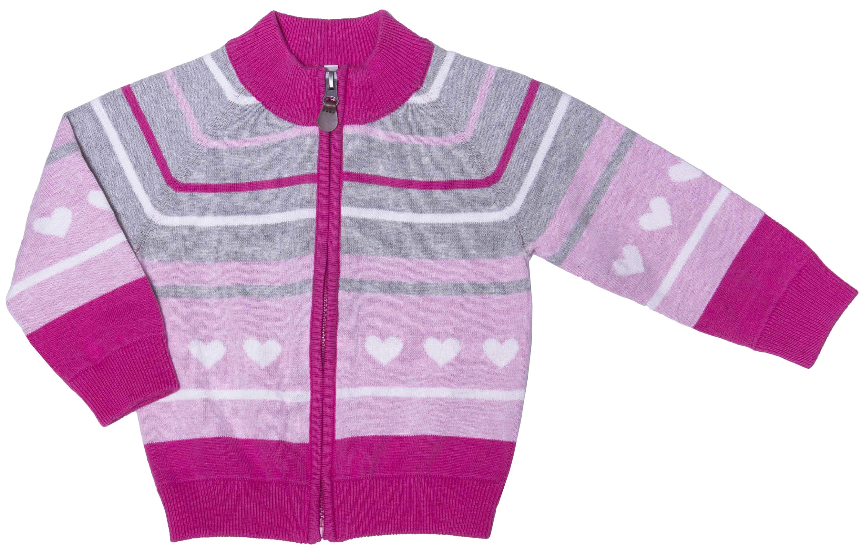 Кардиганы Barkito Кардиган для девочки Barkito, Принцесса 1, розовый меланж с голубой отделкой кардиганы