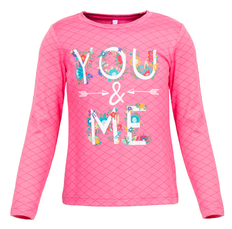"""Футболки Barkito Футболка с длинным рукавом для девочки Barkito """"Спортивная леди"""", розовая цены онлайн"""