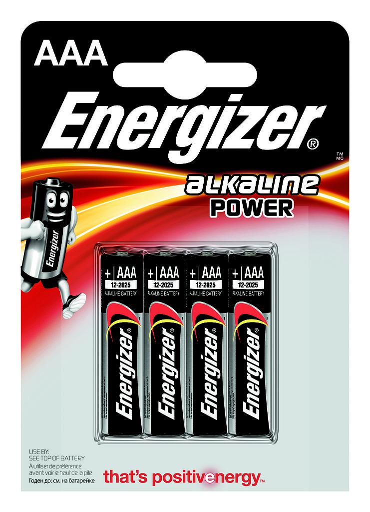 Элементы питания Energizer Батарейка Energizer AAA 4 шт. батарейка energizer base aaa multi blister 20 шт