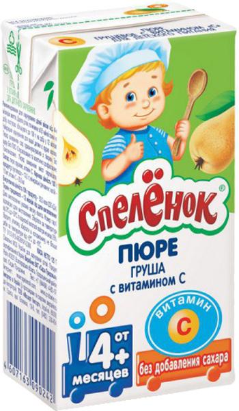 Фруктовое Спеленок Спелёнок Груша с витамином С (с 4 месяцев) 125 г solo1 с