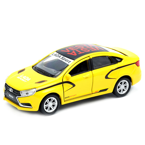 Машинка Welly Lada Vesta sport 1:34-39 машинка welly lada vesta sw cross 1 34 39