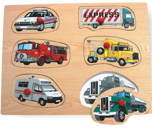 Деревянные игрушки Wooden Toys Рамка Машинки пазлы qiqu wooden toy factory рамка вкладыш машинки