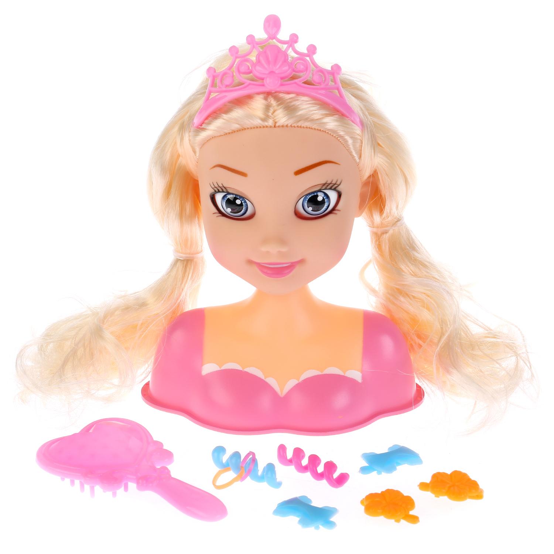 """Купить со скидкой Кукла-манекен Карапуз """"Принцесса"""" для создания причесок 22 см"""