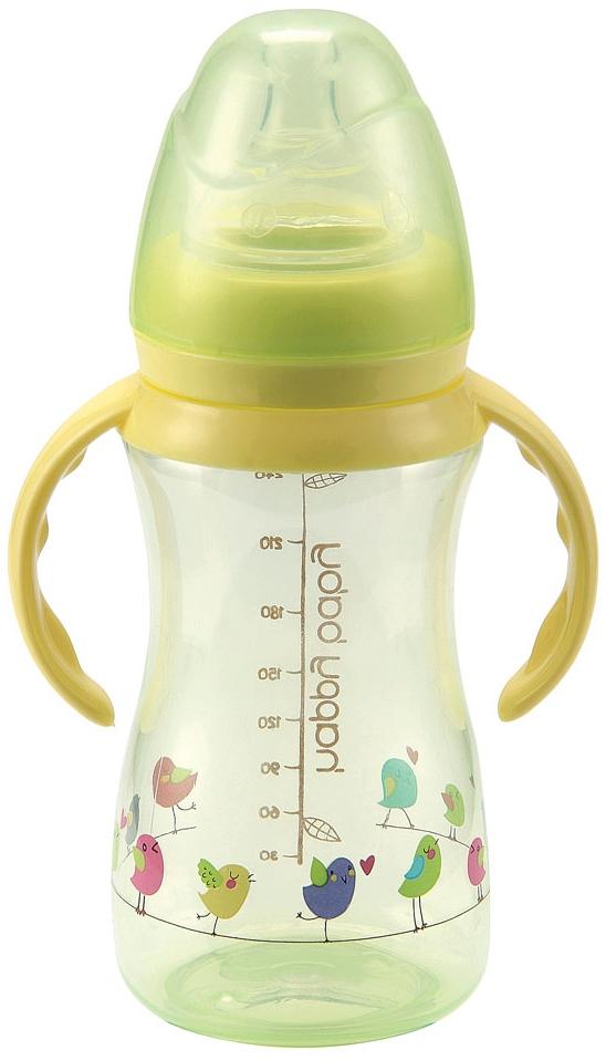 Бутылочка для кормления Happy baby с соской из силикона 240 мл бутылочка для кормления happy baby с ручками и антиколиковой силиконовой соской 300 мл лайм