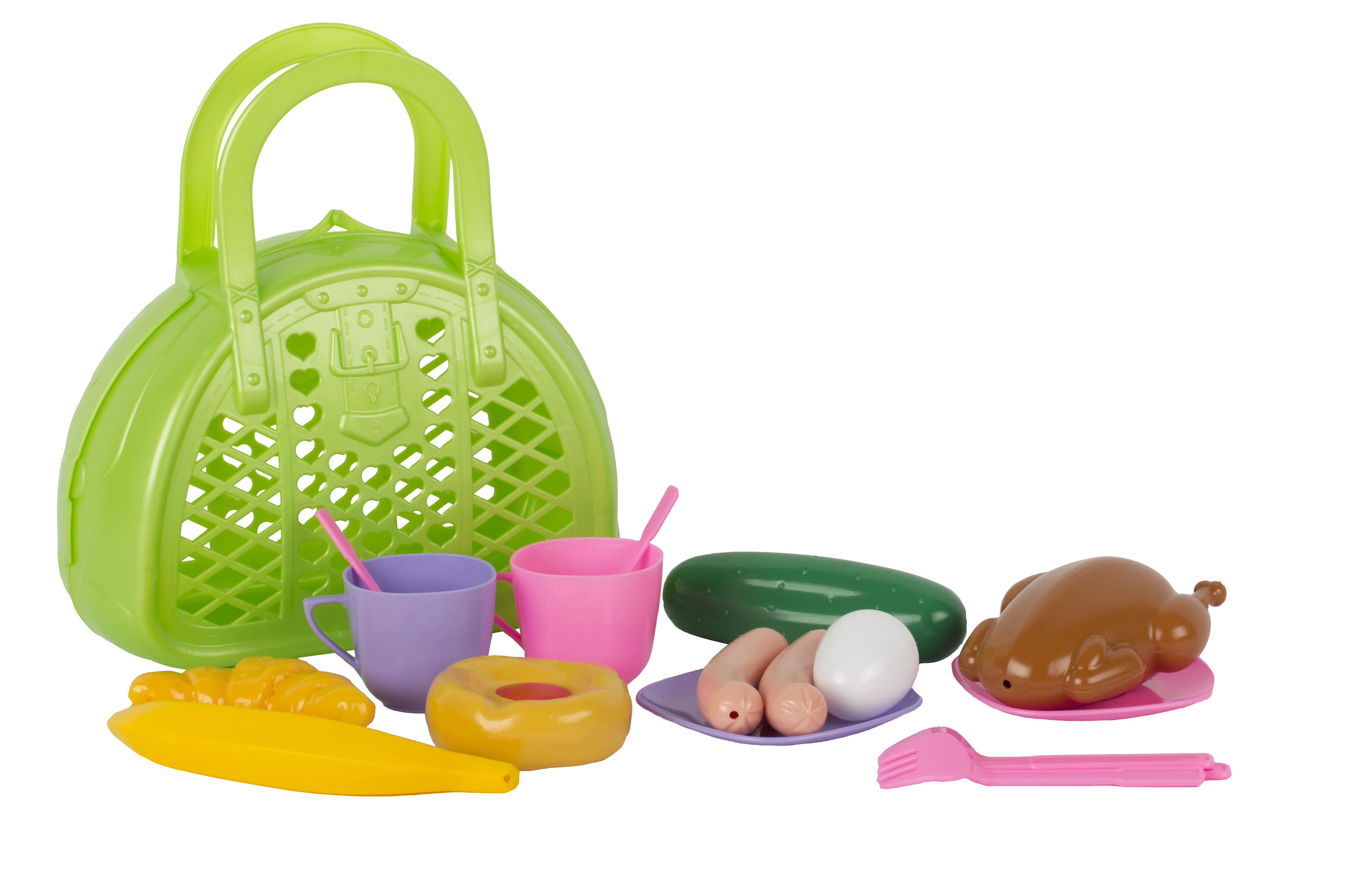 Посуда и наборы продуктов Спектр Игровой набор Спектр «Завтрак путешественника в сумочке» набор маникюрный в сумочке gezatone 136d