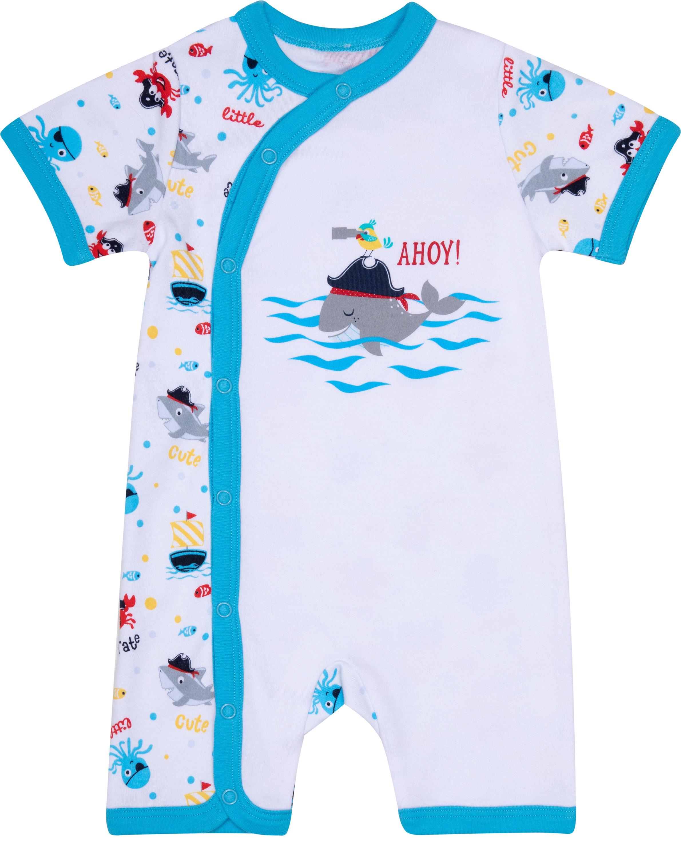 Комбинезон детский Barkito Маленький пират белый с рисунком автомобильный компрессор качок к90