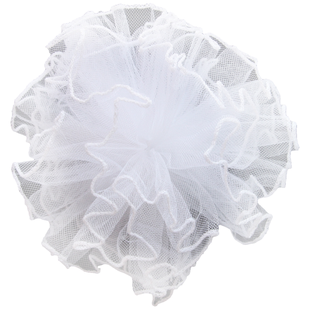 Украшения Принчипесса Бант для волос Принчипесса «Ежик» с окантовкой школьный белый tree tone ежик с грушей 3