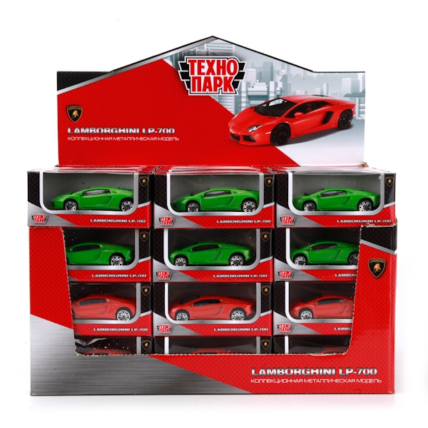 Машинки и мотоциклы Технопарк Lamborghini lp-700 машинки технопарк машина металлическая инерционная зил 131 военный с танком свет звук