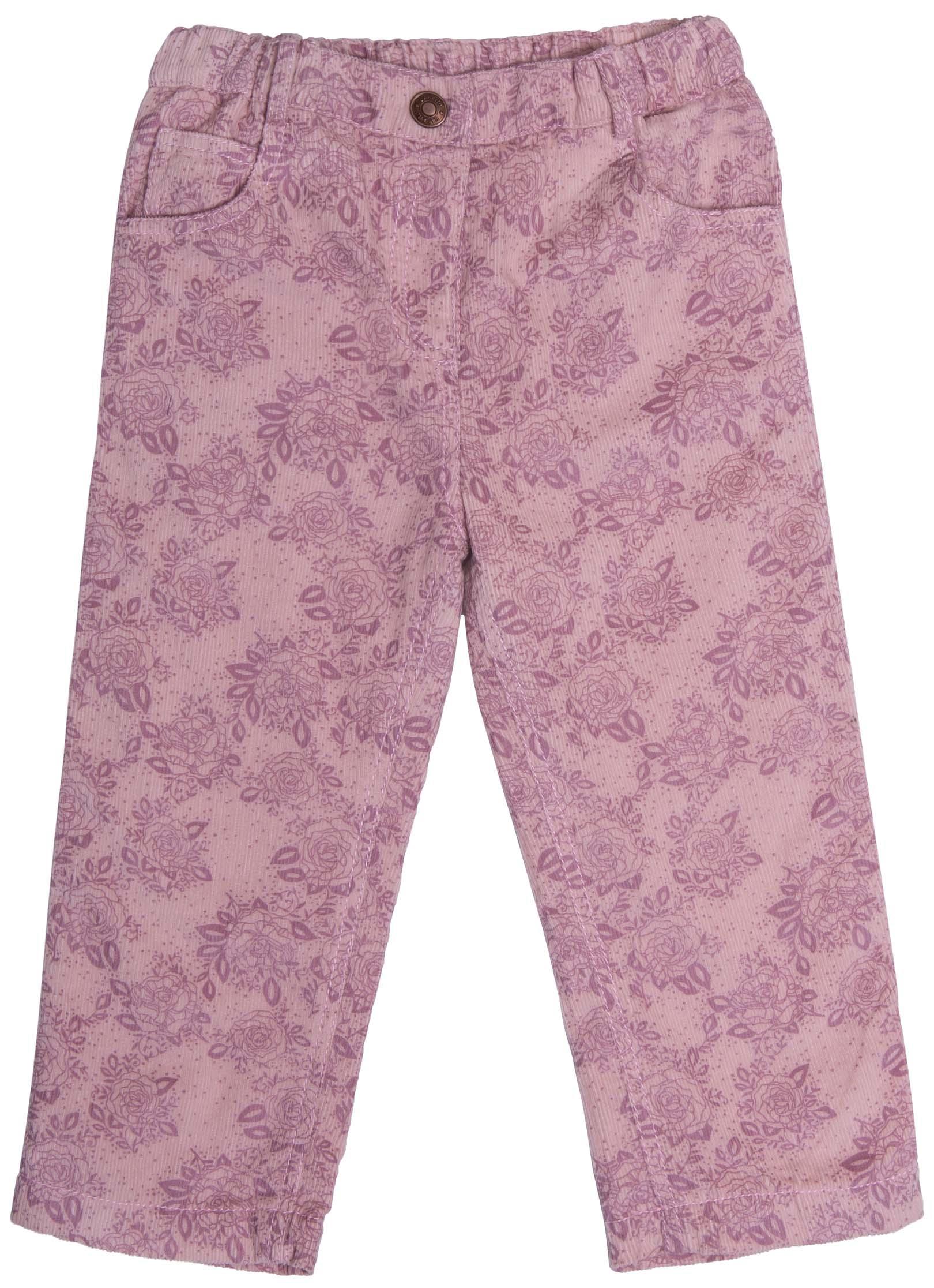 Брюки для девочки Barkito Любимая куколка розовый с рисунком «цветы» брюки дудочки с рисунком