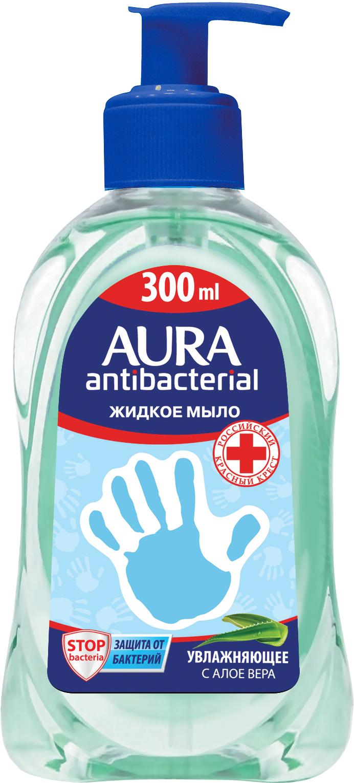 Мыло AURA Жидкое с антибактериальным эффектом Алоэ, 300 мл цены