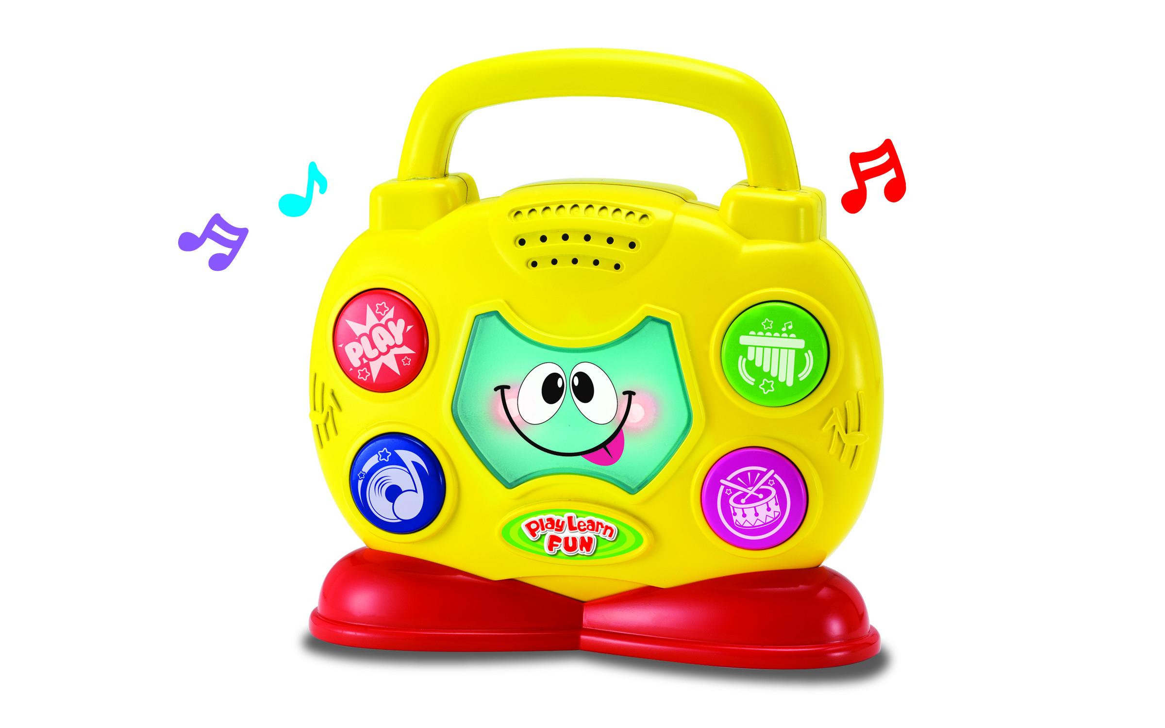 Музыкальные инструменты Keenway Музыкальный бумбокс Keenway желтый keenway keenway машина нажми и поедет полицейская собака
