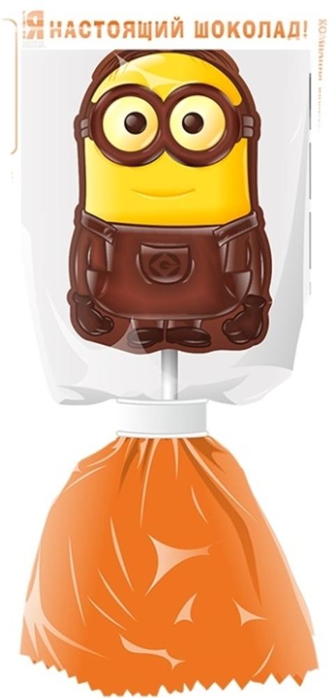 цены на Шоколад молочный Миньоны Московская Ореховая Компания «Детский» на палочке с печеньем 24 г