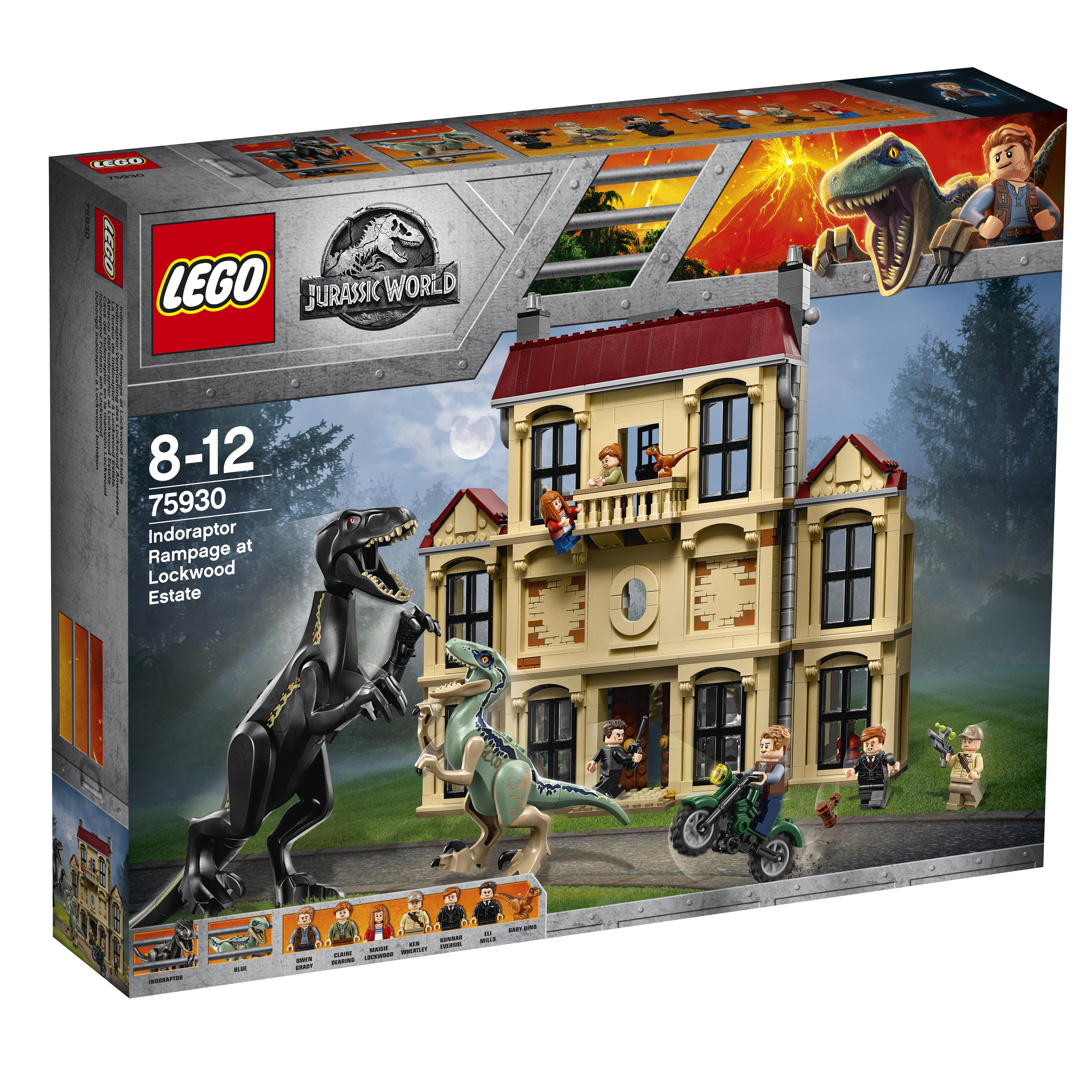 Конструктор LEGO Jurassic World 75930 Нападение индораптора в поместье Локвуд lego lego конструктор lego jurassic world 75930 нападение индораптора в поместье локвуд