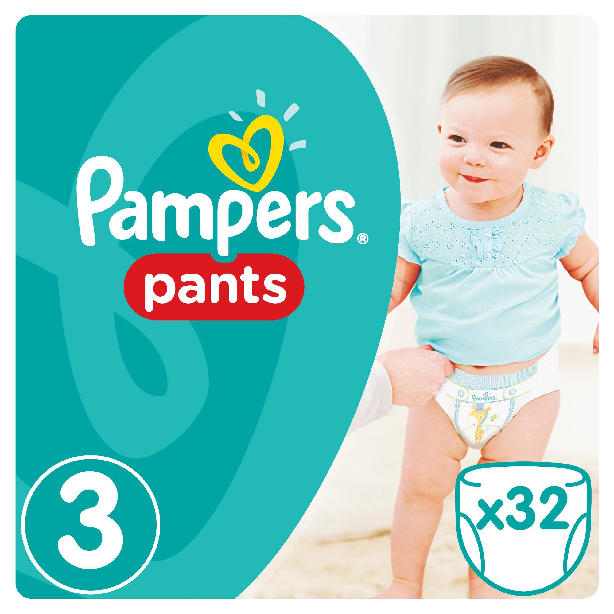 Купить Подгузники-трусики, Трусики Pants 3 (6-11 кг) 32 шт., Pampers, Россия