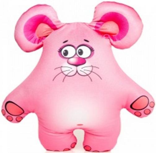 Мягкие игрушки СмолТойс Игрушка-антистресс СмолТойс «Мышонок» 36 см розовая смолтойс подушка антистресс гадкий я в31 31 см 2898 кр 31