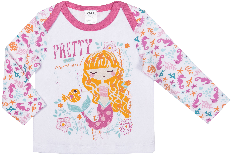 Купить Первые вещи новорожденного, Маленькая сирена верх -белый, низ - розовый, Barkito, Узбекистан, верх - белый, Женский