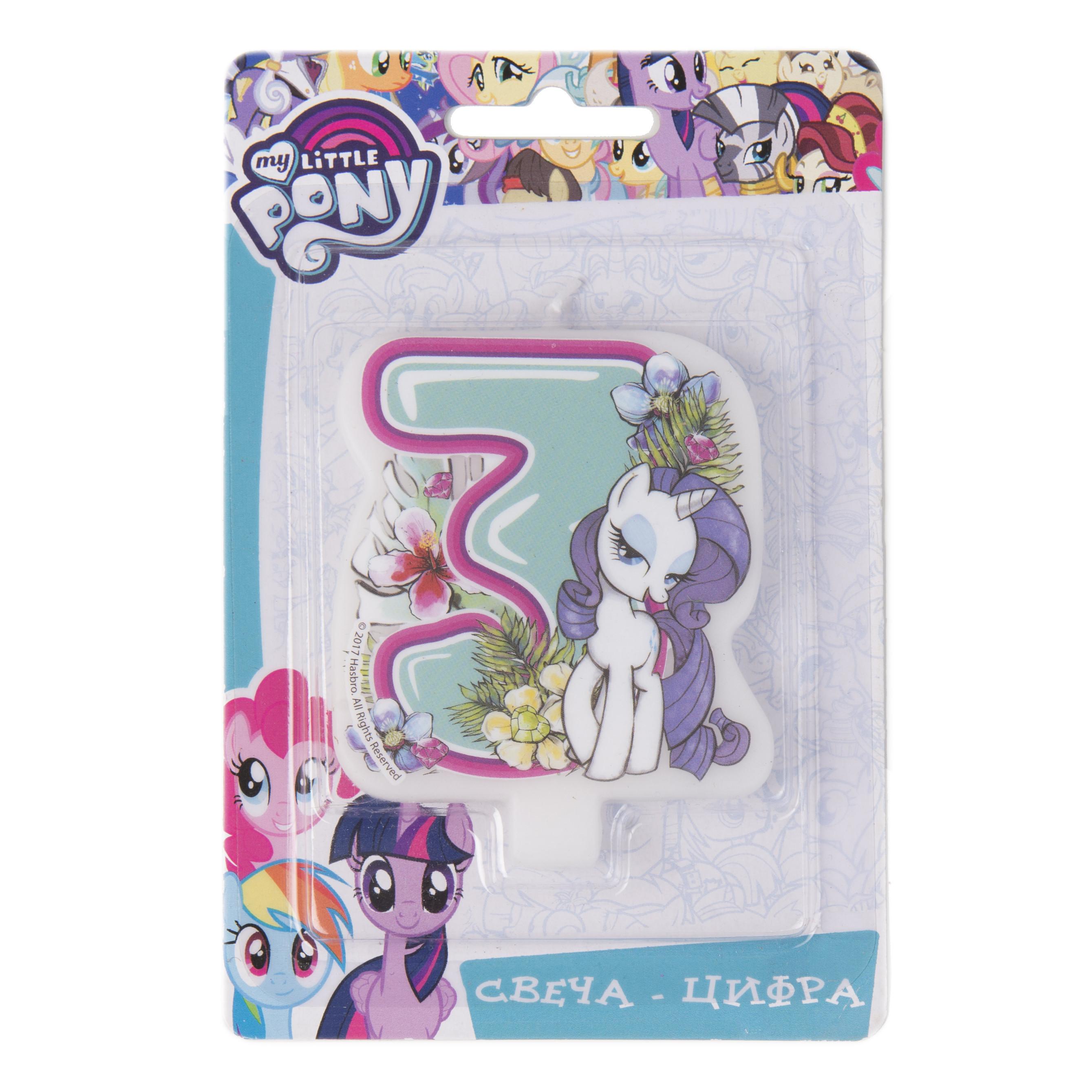 цена на Свеча My Little Pony «Цифра 3»