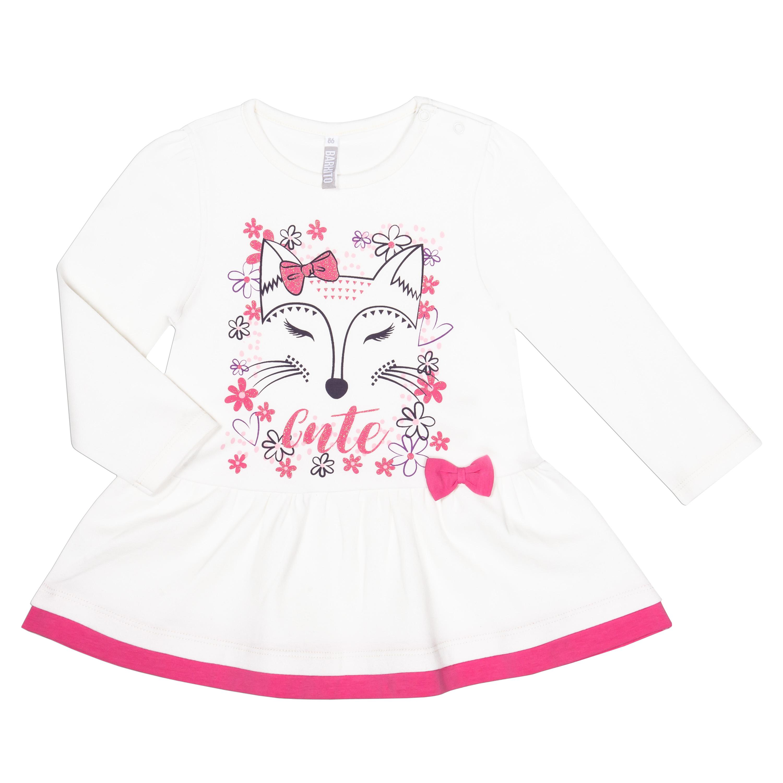 """Купить со скидкой Комплект для девочки туника и брюки трикотажные для девочки Barkito """"Сказочный лес 1"""", тун"""