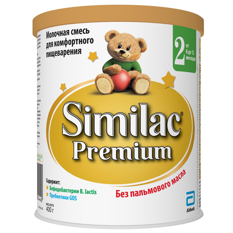Молочная смесь Similac Similac (Abbott) Premium 2 с 6 до 12 месяцев 400 г молочная смесь similac гипоаллергенный 2 с 6 мес 400 г